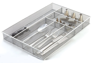 Flatware Tray 16x11x2In Silver