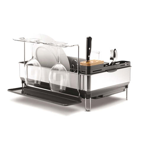 Complete Dish Rack With Wine Glass Holder