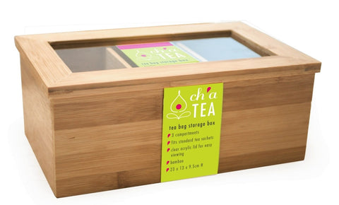 Bamboo Tea Bag Storage Box