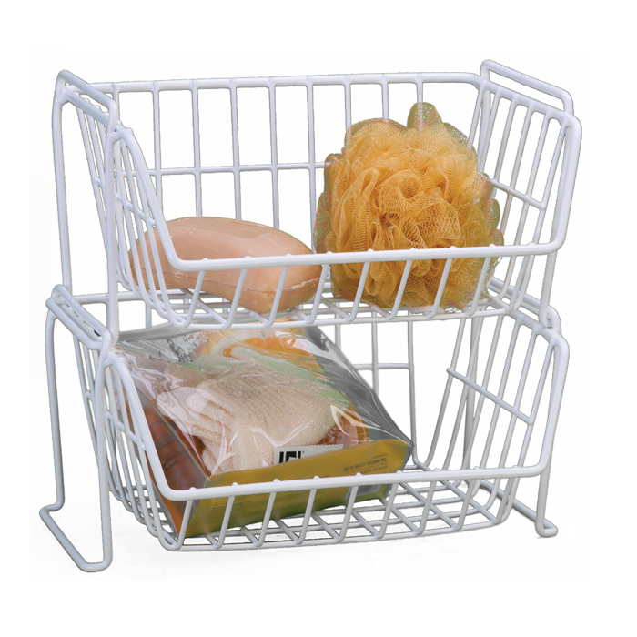 Small Stacking Grid Basket