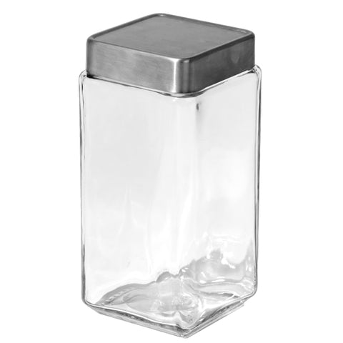 Chrome Lid Canisters