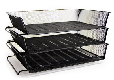 Stack Letter Tray Black
