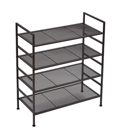 4 Tier Sturdy Stackable Shoe Shelf
