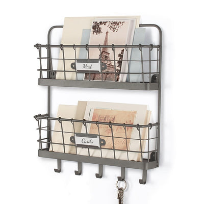 Vintage Wire 2-Tier Letter Holder