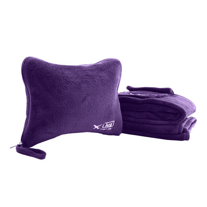 Nap Sac Plum Blanket+Pillow