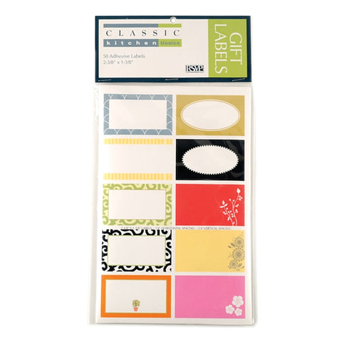Adhesive Kitchen Labels