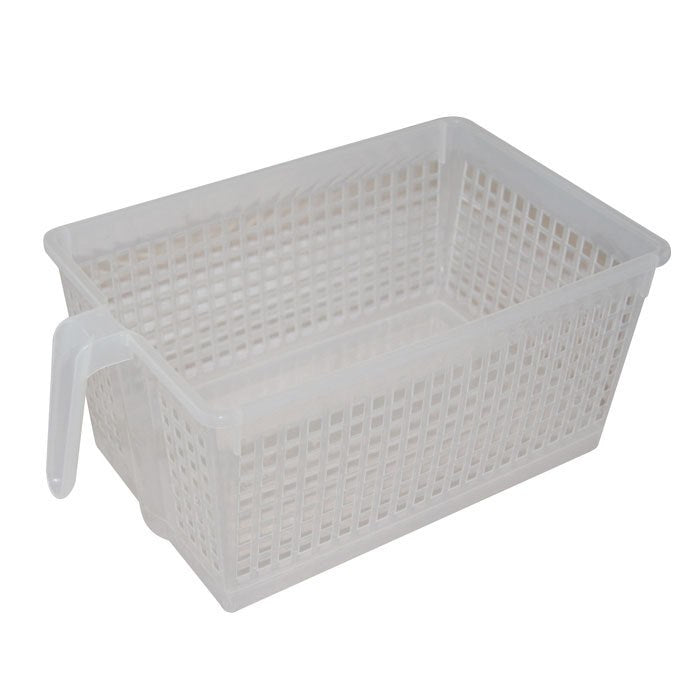 Handled Storage Basket, L Clear