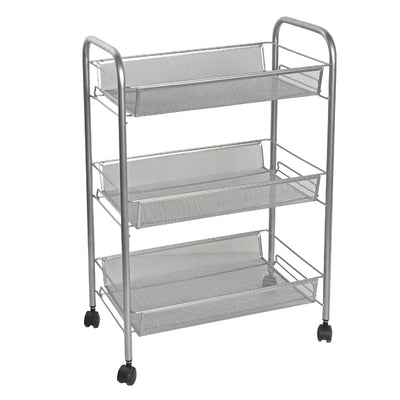Wide Mesh Mobile Cart