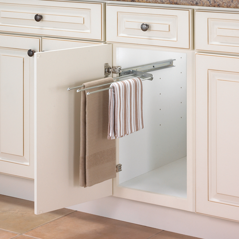Slide Out Cabinet Towel Bar