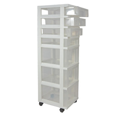 Tower 7-Drawer 4S3L White