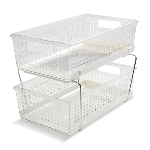 Clear Under Sink Pull-Out Caddy