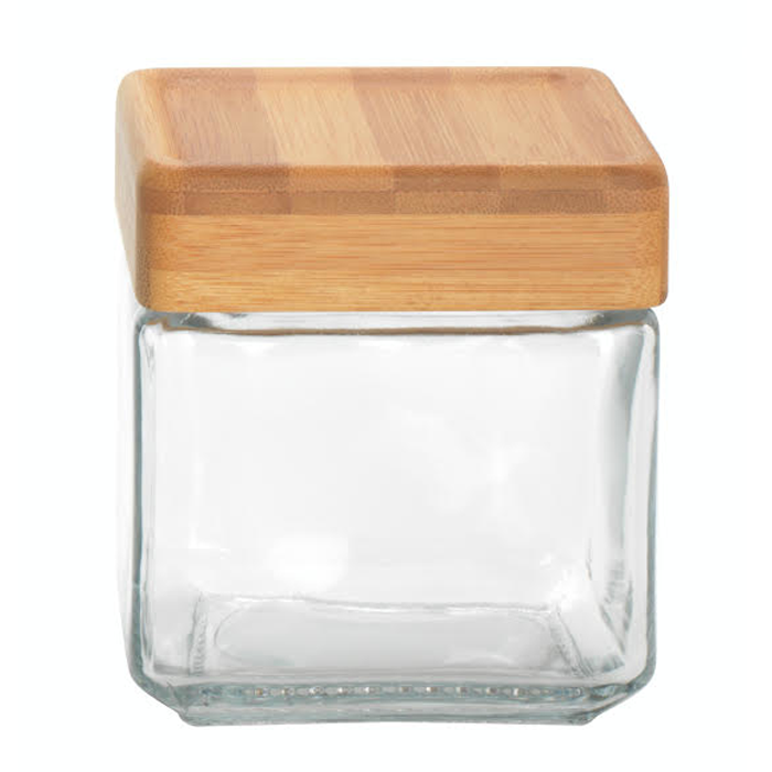Wood Lid Tate Canisters