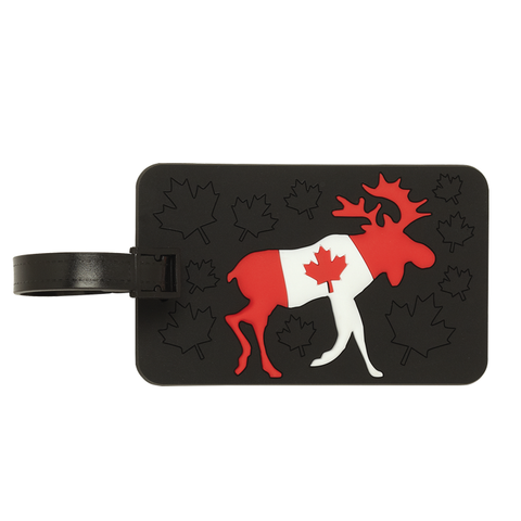 Luggage Tag, Moose Flag