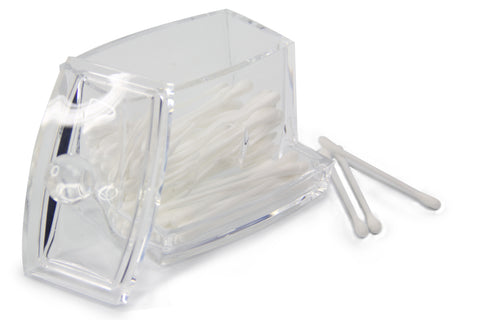 Cotton Swab Holder with Lid
