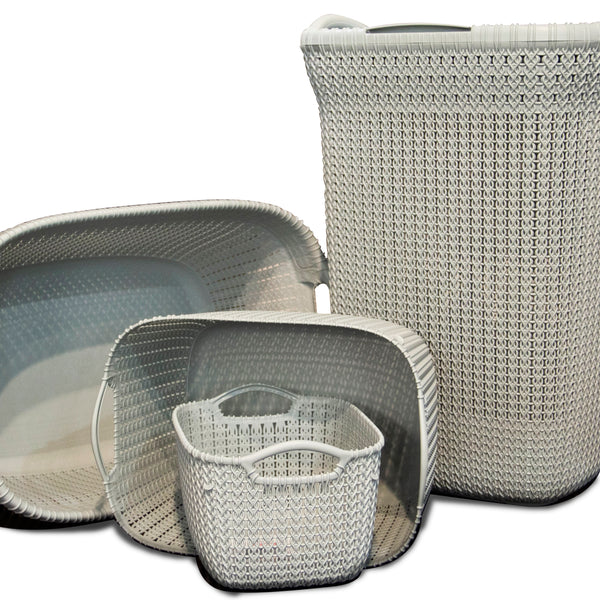 Blue Knit Basket Bundle (4 Piece Set)