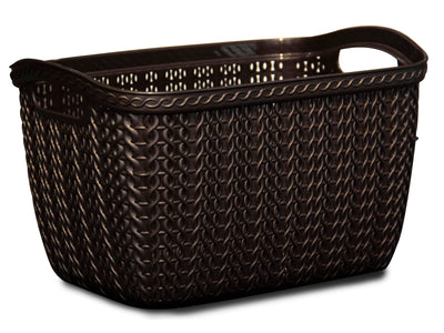 Brown Knit Basket - Small