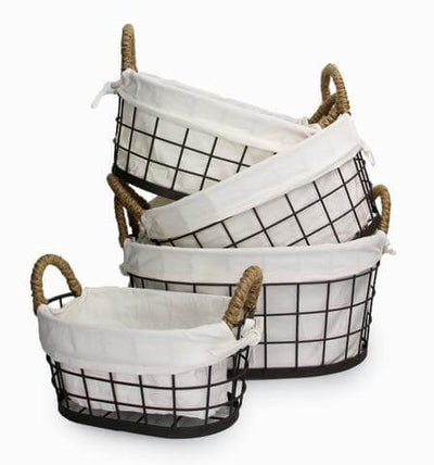 Wire Basket Bundle (4 Piece Set)