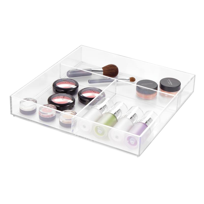 Clarity Square Divided Drawer Organizer
