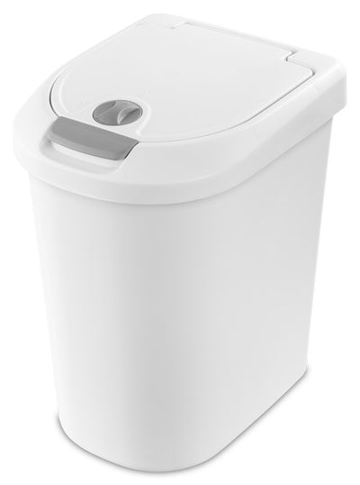 Push Top Bin 28L White