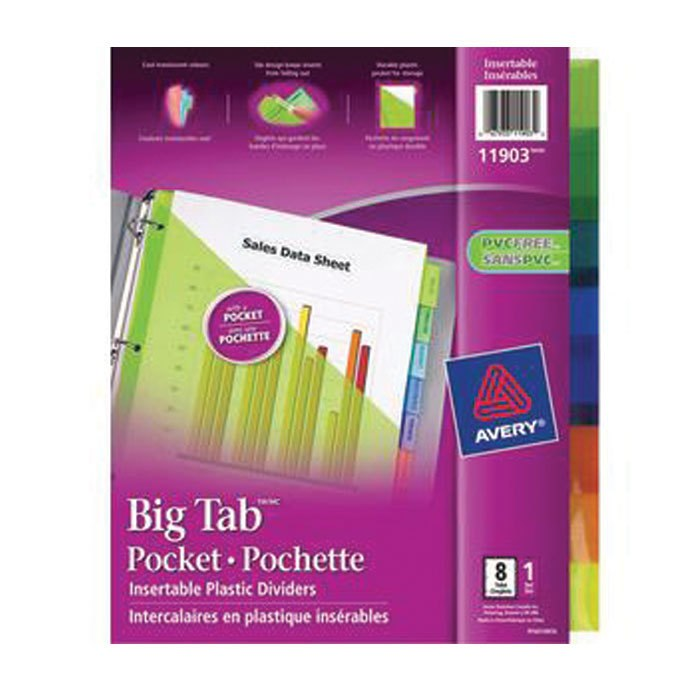 Avery Extra Wide 8-Tab Dividers