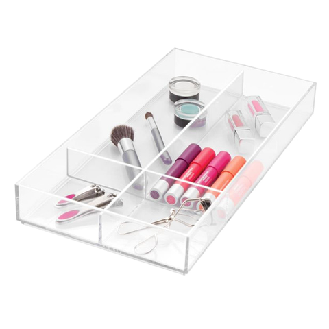 Clarity Long Divided Drawer Organizer