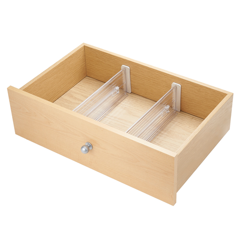 Linus Clear Adjustable Deep Drawer Divider