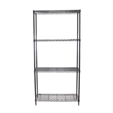 Chrome Adjustable 4 Shelf Kit - 18 x 48 Inches