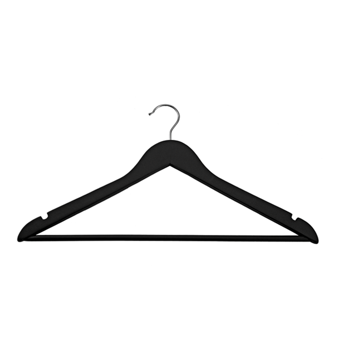 Black Basic Hangers - Set Of 8