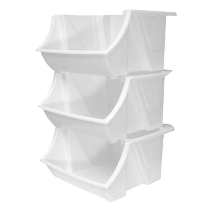 12x1 Stackable Bin - White