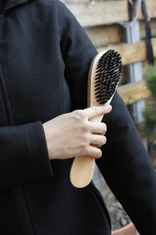 3-In-1 Wood Lint & Shoe Brush-Horn