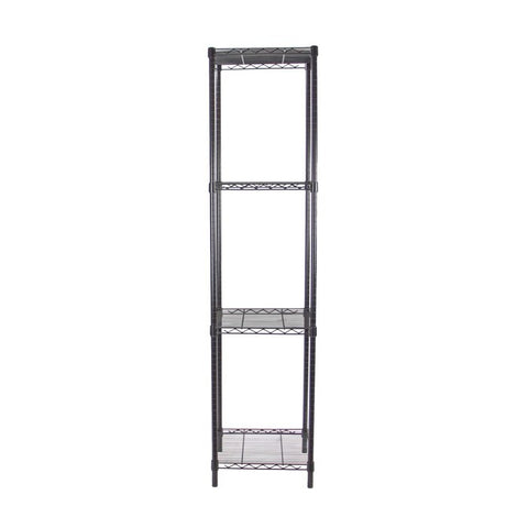 Black Adjustable 4 Shelf Kit - 18 x 18 Inches