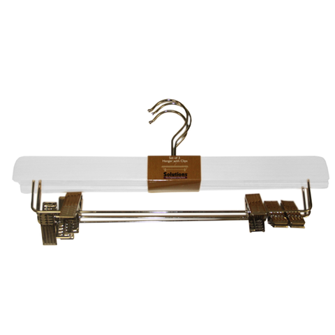 Hotel Hanger With Clips - 3 Pack