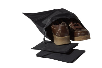 Shoe Bag-Blk Nylon S/3