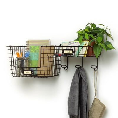Vintage Entryway Station Industrial Grey