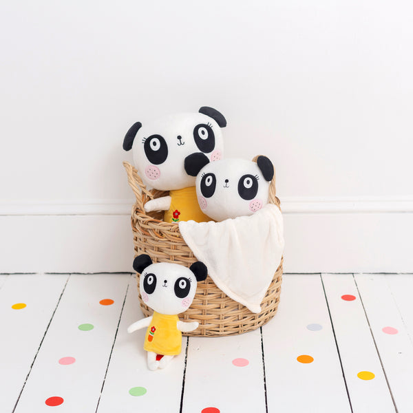 Buy Lemon Ribbon Animal Panda bear Cuddly Toy, Small Cute Girl Character at shop.lemonribbon.com