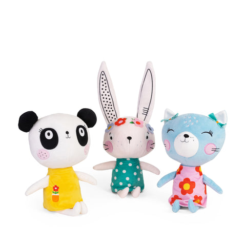 Buy Lemon Ribbon Animal Bunny, Panda and Cat Cuddly Toy Gift Set, Cute Girl Character Toys at shop.lemonribbon.com