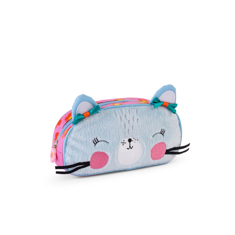 Buy Lemon Ribbon Kids' Cat Pencil Case/ Travel Case, Cute Girl Character at shop.lemonribbon.com