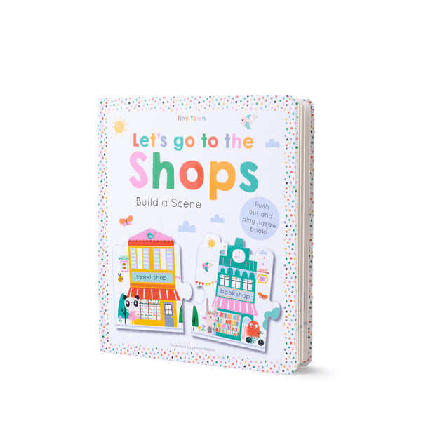 Buy Lemon Ribbon Kids' Jigsaw Scene Book Let's go to the Shops, a perfect short story for kids at shop.lemonribbon.com