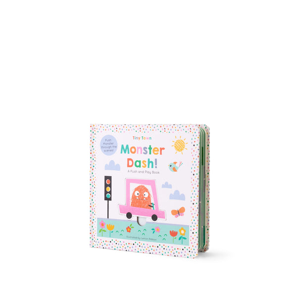 Buy Lemon Ribbon Kids' Novelty Push and Play Book Monster Dash, a perfect short story for kids at shop.lemonribbon.com