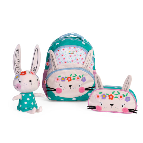 Buy Lemon Ribbon Kids' Bunny Gift Set, Bundle includes Character backpack, pencil case and soft toy at shop.lemonribbon.com