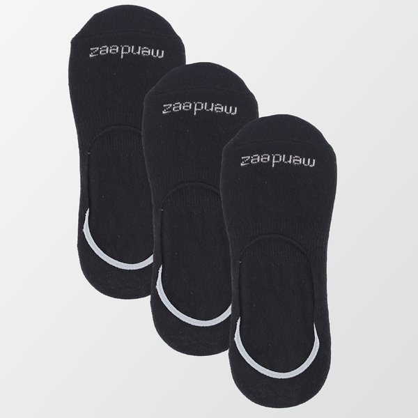 Pack of 3 - No Show Socks - Black