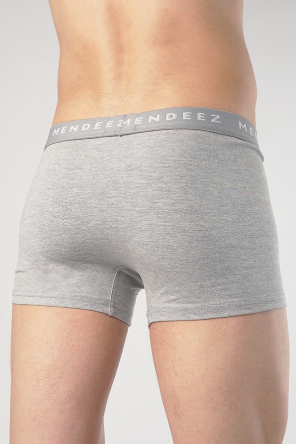 Jacquard Boxer Trunks - Pack of 3 - Heather Grey