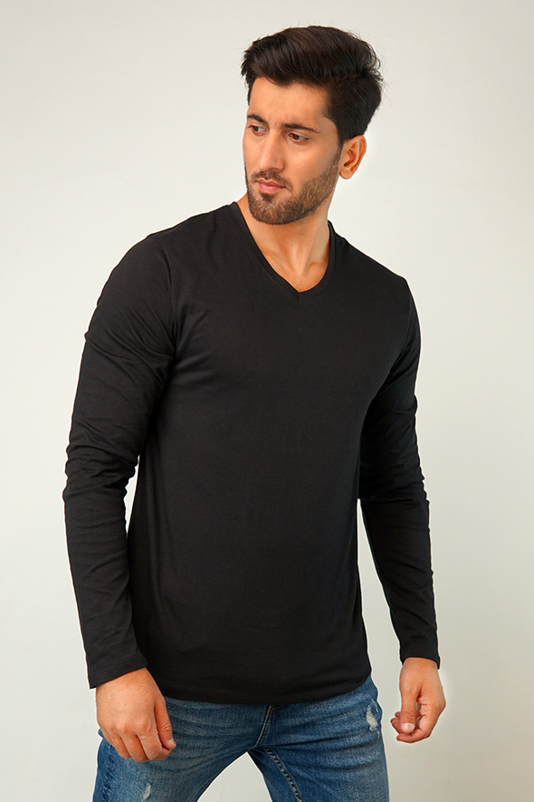 Pack of 3 - Full Sleeve V Neck T-Shirt
