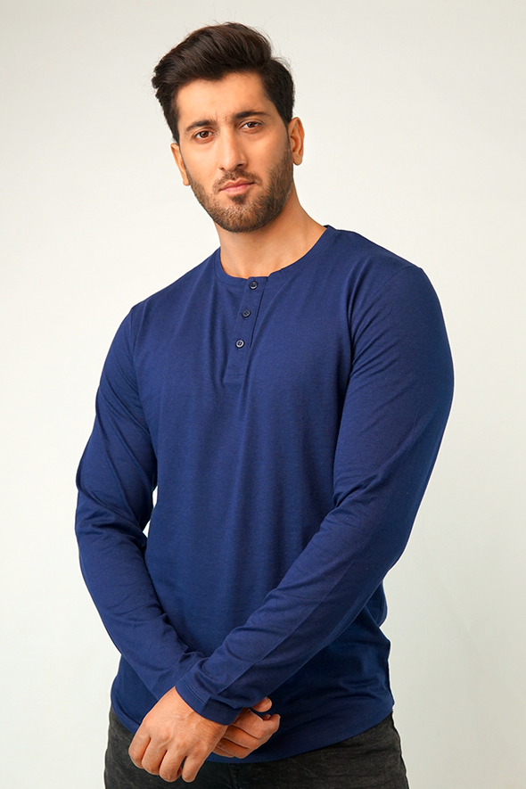 Indy Full Sleeve Henley T-Shirt