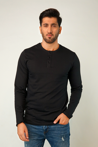 Euphagus Full Sleeve Henley T-Shirt