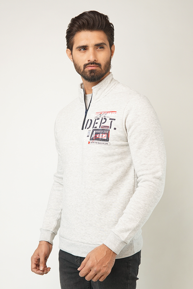 Bang Zip Neck Sweatshirt