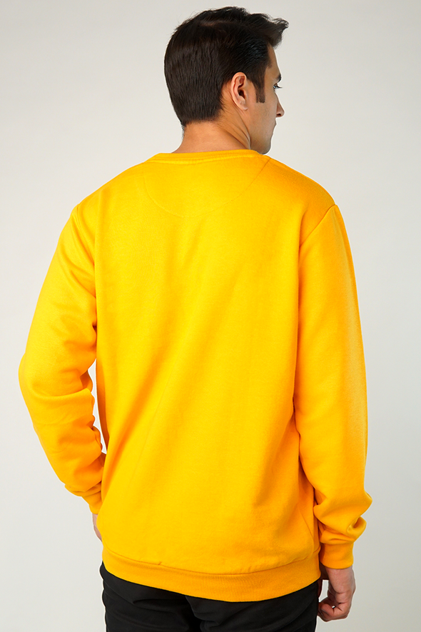 Mustard Fleece Crew Sweatshirt