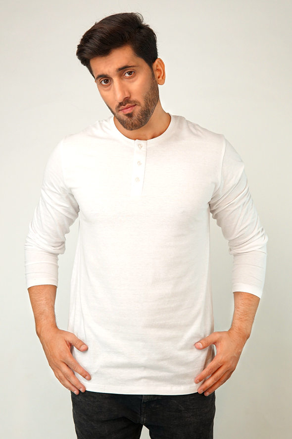 Siberian Full Sleeve Henley T-Shirt