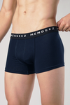 Jacquard Boxer Trunks - Pack of 3 - Navy Blue