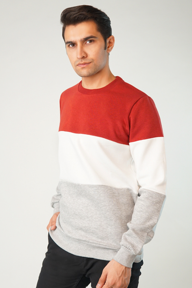 Trop Color Block Sweatshirt